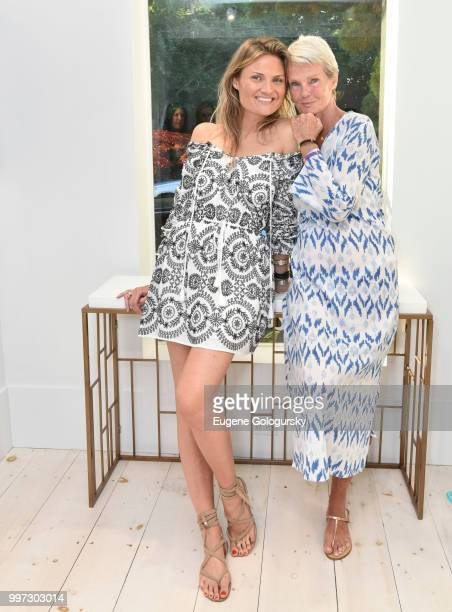 Lizzi Bickford and Betsy Berry attend the Modern Luxury Sam Edelman Summer Fashion Event on July 12 2018 in Southampton New York