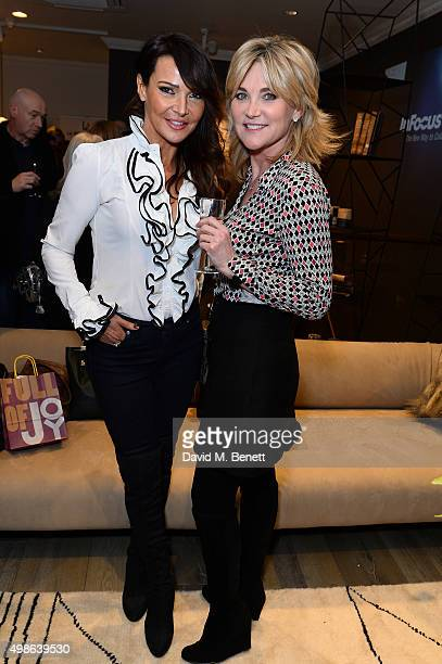 Lizzie Cundy and Anthea Turner attend a champagne reception for 'Look Good Feel Better' supporting women with cancer at the Baxter London on November...