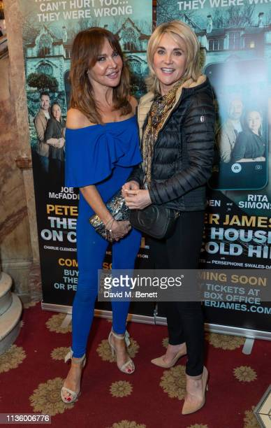 Lizzie Cundy and Anthea Turner attend the press night after party for The House On Cold Hill at the Richmond Theatre on April 9 2019 in Richmond...