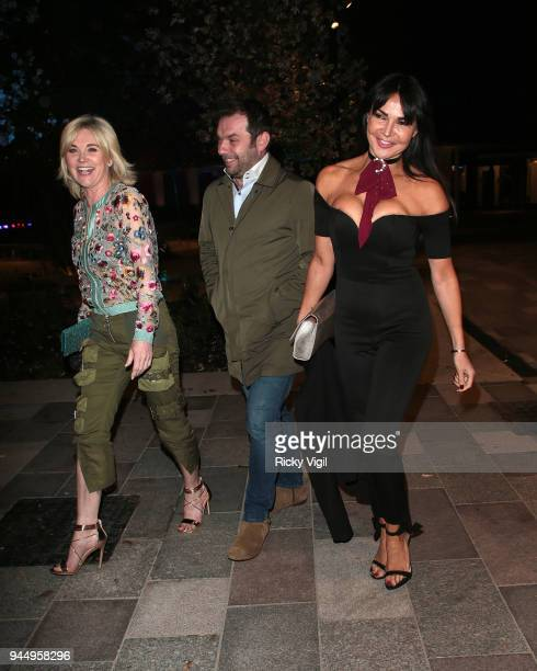 Lizzie Cundy and Anthea Turner seen attending Soho House White City launch party on April 11 2018 in London England