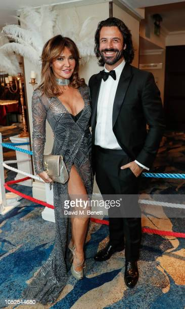 Lizzie Cundy and Christian Vit attends The Float Like A Butterfly Ball 2018 the annual black tie boxing gala in aid of Caudwell Children at The...