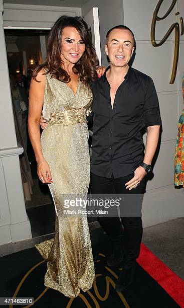 Lizzie Cundy and Julien Macdonald attending the Hot Gossip launch party at Gigi's on April 28 2015 in London England