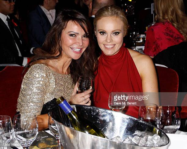 Lizzie Cundy and Michelle Dewberry attend The Global Angel Awards at Park Plaza Westminster Bridge Hotel on December 2 2011 in London England