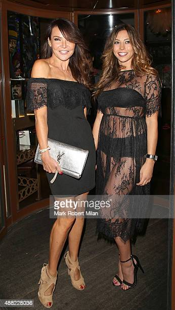 Lizzie Cundy and Pascal Craymer at the Soho Sanctum Hotel on September 14 2015 in London England