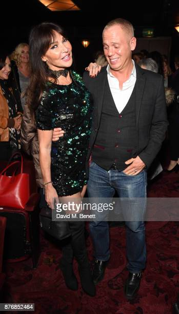 Lizzie Cundy and Robert Rinder attend an after party celebrating the final performance of Arlene Phillips' one woman show 'Arlene The Glitz The...
