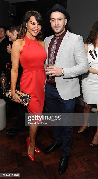 Lizzie Cundy and Shane Ward attend the launch of new book 'My Fight To The Top' by Ultimo founder Michelle Mone at Salmontini on March 12 2015 in...