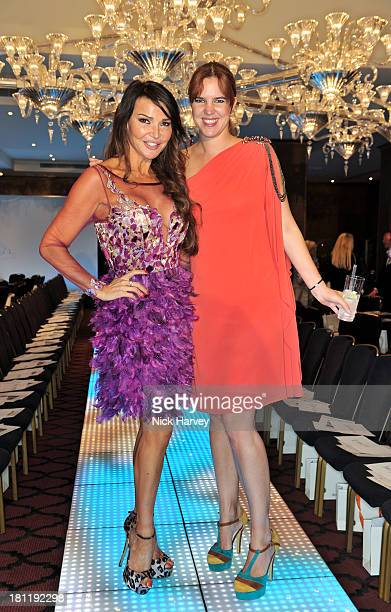 Lizzie Cundy and Victoria Aitken attend the Nina Naustdal Runway show following London Fashion Fashion Week SS14 at The Mayfair Hotel on September 19...