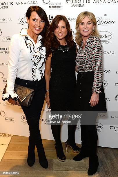 Lizzie Cundy Anthea Turner and Grace Fodor attend a champagne reception for 'Look Good Feel Better' supporting women with cancer at the Baxter London...