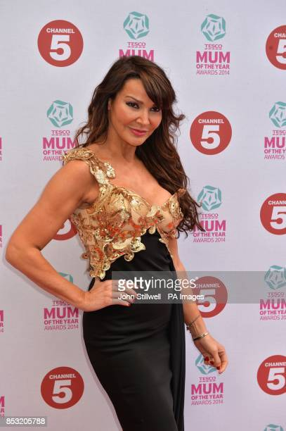 Lizzie Cundy arriving at Tesco Mum of the Year Awards celebrating Britain's most inspirational mothers at The Savoy Hotel Strand in central London