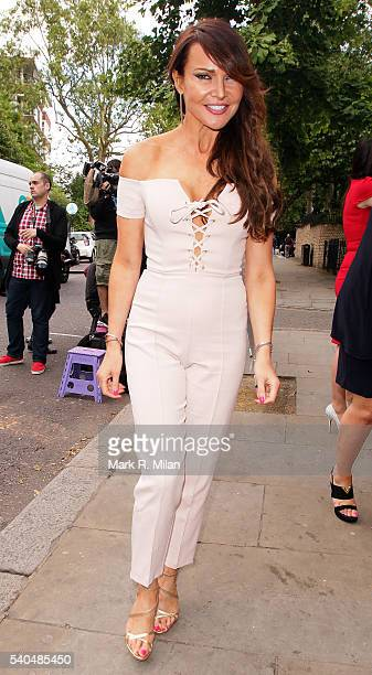Lizzie Cundy at Beach Blanket Babylon on June 15 2016 in London England