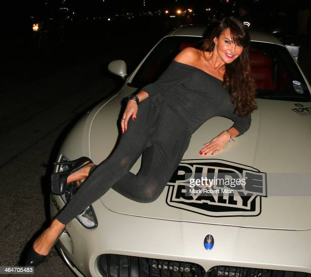 Lizzie Cundy at the SuperCar Rally Pure Rally launch party on January 23 2014 in London England
