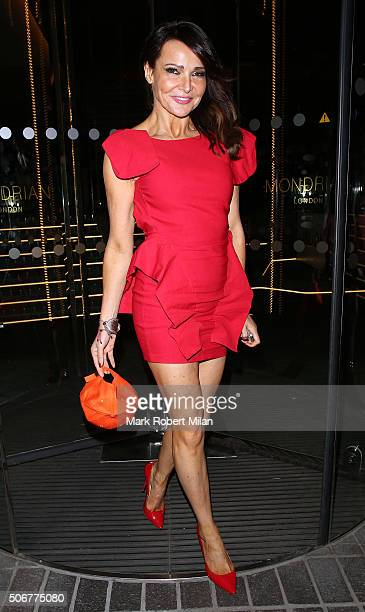Lizzie Cundy attending a VIP screening of 'Eating Happiness' in association with the World Dog Alliance at The Mondrian Hotel on January 25 2016 in...