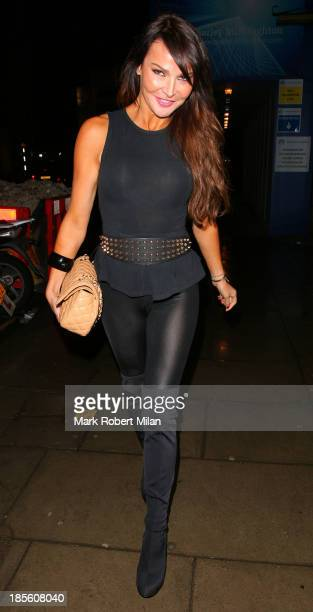Lizzie Cundy attending the Claire's Accessories party on October 22 2013 in London England