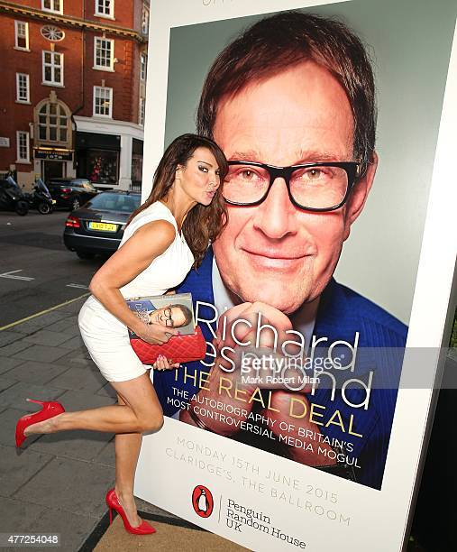 Lizzie Cundy attending the Richard Desmond book launch party at the Claridges hotel ballroom on June 15, 2015 in London, England.