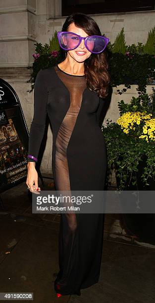 Lizzie Cundy attending the Specsavers 'Spectacle Wearer of the Year' party on October 6 2015 in London England