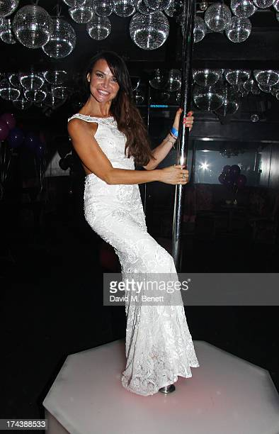 Lizzie Cundy attends an after party at the Freedom Bar Wardour street following the press night performance of 'Wag The Musical' on July 24 2013 in...