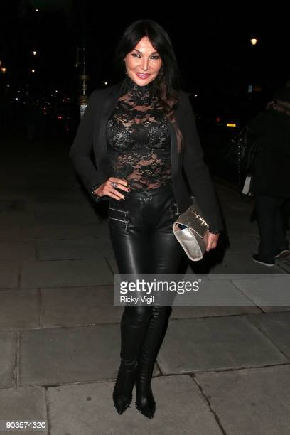 Lizzie Cundy attends #megsmenopause at Home House on January 10 2018 in London England