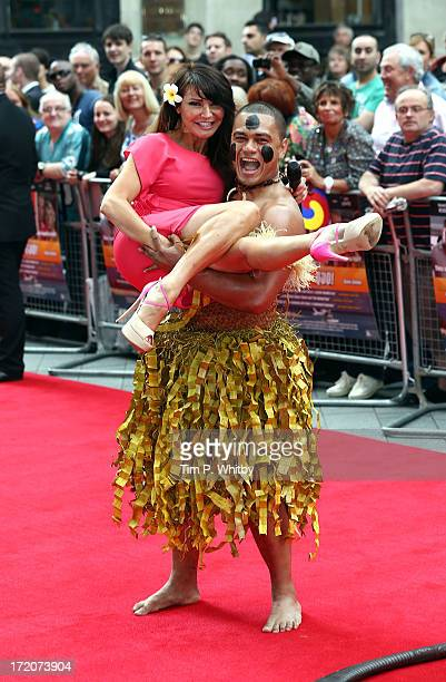 Lizzie Cundy attends the Bula Quo Premiere at Odeon West End on July 1 2013 in London England