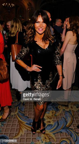 Lizzie Cundy attends the Gala Night after party for 9 To 5 The Musical at The Savoy Hotel on February 17 2019 in London England