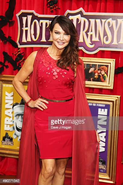 Lizzie Cundy attends the Hotel Transylvania 2 Tea Party and Gala Screening at The Soho Hotel on September 27 2015 in London England