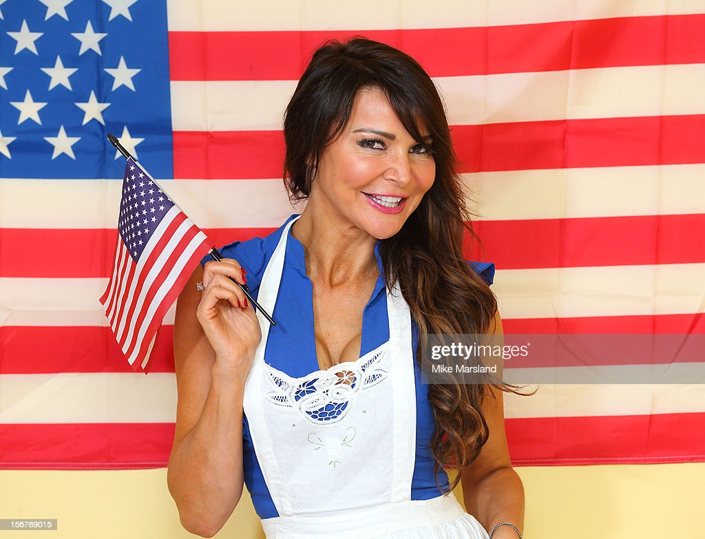 Lizzie Cundy attends The Marylebone Project's Thanksgiving meal for homeless women in conjunction with the American InterContinental University on November 21, 2012 in London, England.