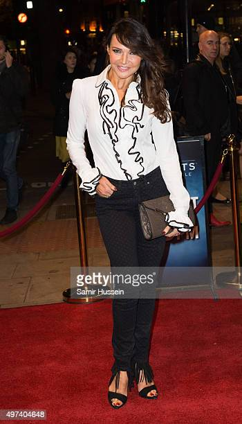 Lizzie Cundy attends the press night for The Illusionists at Shaftesbury Theatre on November 16 2015 in London England