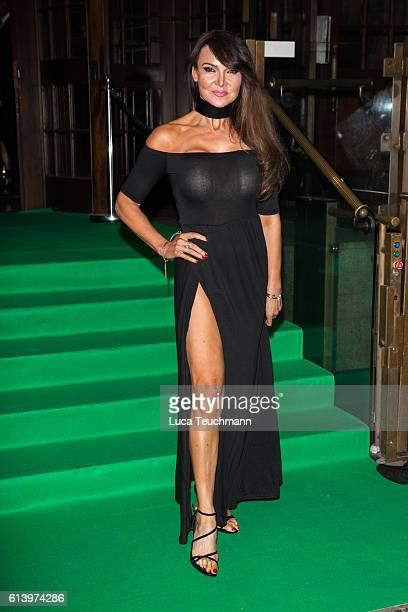 Lizzie Cundy attends the Spectacle Wearer of the Year awards on October 11 2016 in London England