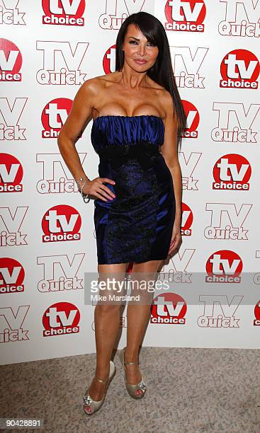Lizzie Cundy attends the TV Quick Tv Choice Awards at The Dorchester on September 7 2009 in London England
