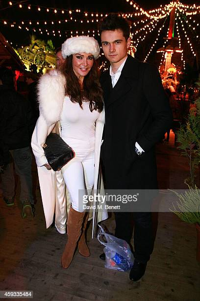 Lizzie Cundy attends the Winter Wonderland VIP opening at Hyde Park on November 20 2014 in London England