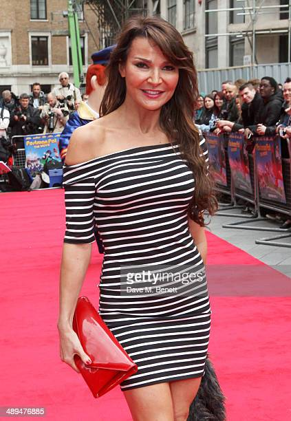 Lizzie Cundy attends the World Premiere of 'Postman Pat' at Odeon West End on May 11 2014 in London England