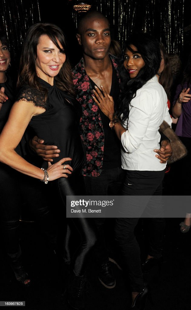Lizzie Cundy, BB and Sinitta attend Wink Bingo's Gentle Woman's Night featuring a performance from The Dream Idols at Peter Stringfellow's Angels Club on March 18, 2013 in London, England.