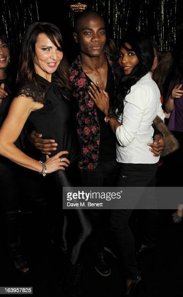Lizzie Cundy BB and Sinitta attend Wink Bingo's Gentle Woman's Night featuring a performance from The Dream Idols at Peter Stringfellow's Angels Club...