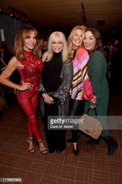Lizzie Cundy Jo Wood Jilly Johnson and Tonia Buxton attend the launch of Jo Wood's new book Stoned Photographs Treasures From Life With The Rolling...