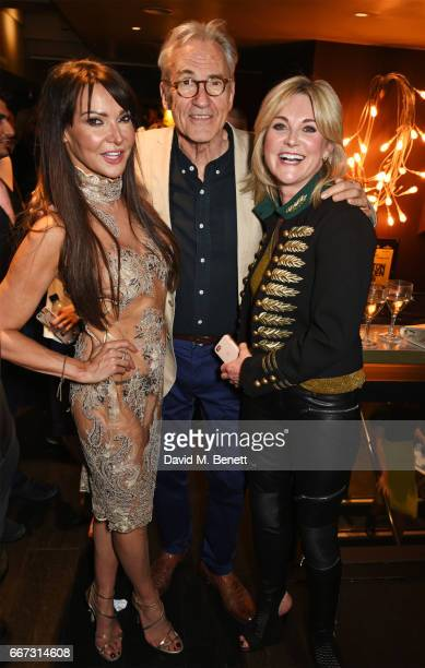 Lizzie Cundy Larry Lamb and Anthea Turner attend the World Premiere of 'The Hatton Garden Job' at The Curzon Soho on April 11 2017 in London England