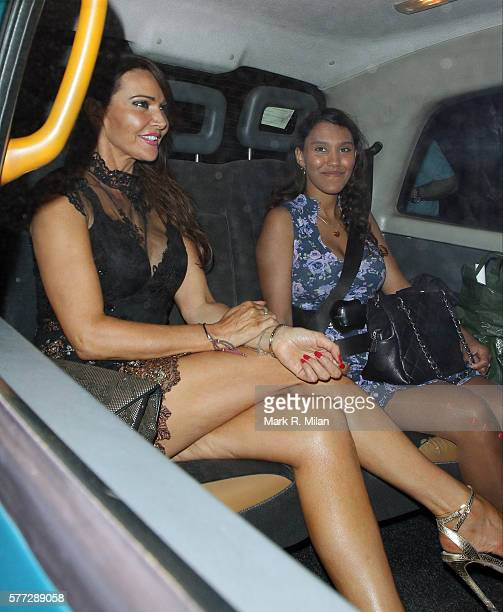 Lizzie Cundy leaving the Syco summer party at St James' Palace on July 18 2016 in London England