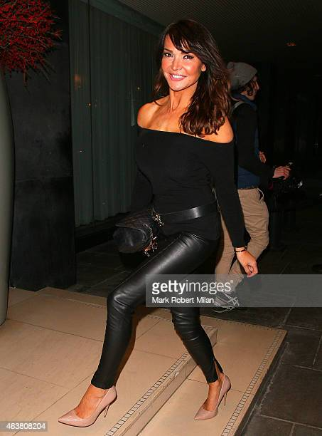 Lizzie Cundy seen at the Sanderson Hotel on February 18 2015 in London England