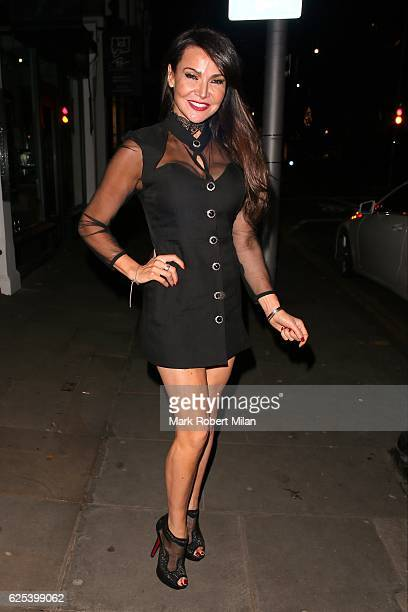Lizzie Cundy sighting on November 23 2016 in London England