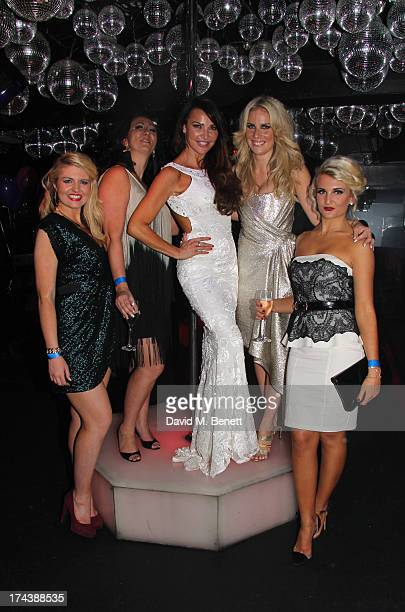 Lizzie CundyAngela RussellPippa FultonAlyssa Kyria and Lizzy Connolly attend an after party at the Freedom Bar Wardour street following the press...