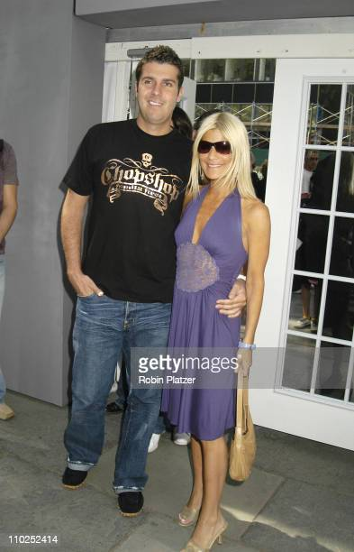 Lizzie Grubman and boyfriend Chris Stern during Olympus Fashion Week Spring 2006 Rosa Cha Spring 2006 Fashion Show Arrivals at The Tents at Olympus...