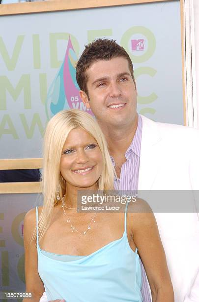 Lizzie Grubman and Chris Stern during 2005 MTV Video Music Awards Arrivals at American Airlines Arena in Miami Florida United States