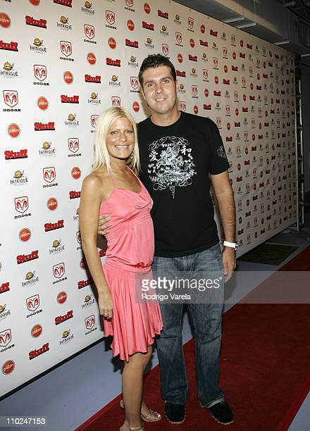 Lizzie Grubman and Chris Stern during 2005 MTV VMA Stuff Magazine Party Arrivals at Sagamore Hotel in Miami Beach Florida United States