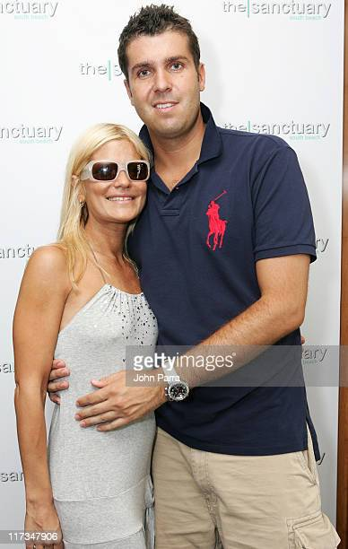 Lizzie Grubman and Chris Stern during 2005 MTV VMA The Sanctuary by BWR Best Events Premiere Gifting Hotel at Sanctuary Hotel in Miami Beach Florida...