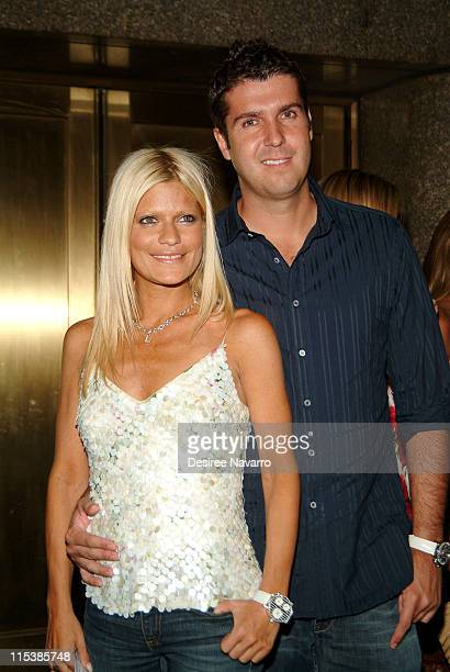 Lizzie Grubman and Chris Stern during Olympus Fashion Week Spring 2006 Baby Phat Arrivals at Radio City Music Hall in New York City New York United...