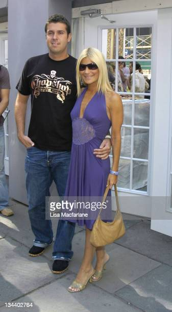 Lizzie Grubman and Chris Stern during Olympus Fashion Week Spring 2006 Scene Around Tent Day 2 at Bryant Park in New York City New York United States