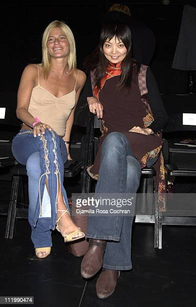Lizzie Grubman and Irina Pantaeva during MercedesBenz Fashion Week Fall 2003 Collections Vivienne Tam Front Row and Back Stage at Bryant Park in New...