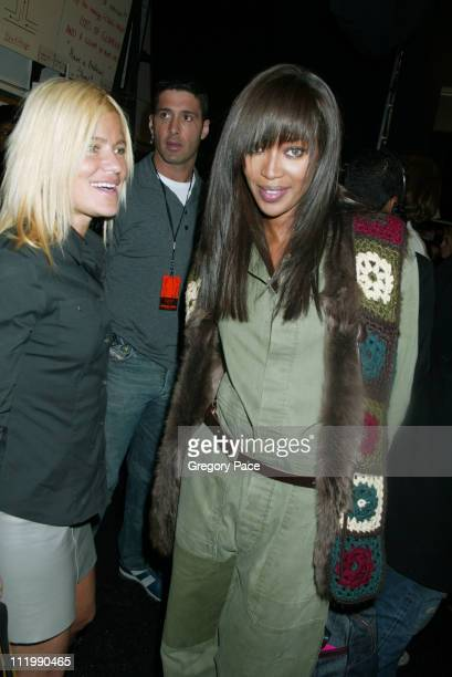 Lizzie Grubman and Naomi Campbell during Michael Kors Fall 2003 Fashion Show at Bryant Park Tents in New York NY United States