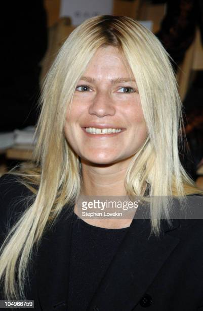 Lizzie Grubman during Olympus Fashion Week Fall 2004 Alice Roi Front Row at The Promenade Bryant Park in New York City New York United States