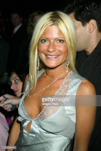 Lizzie Grubman during Olympus Fashion Week Fall 2005 Heatherette Backstage and Front Row at Bryant Park Tents in New York City New York United States