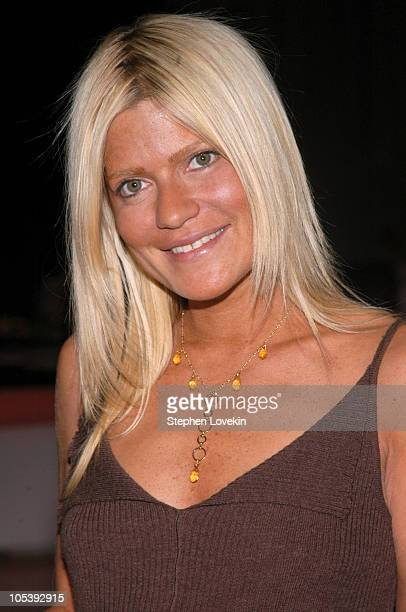 Lizzie Grubman during Olympus Fashion Week Fall 2005 Luxe Romance Front Row at The Altman Building in New York City New York United States