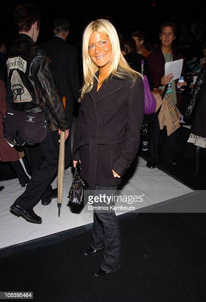 Lizzie Grubman during Olympus Fashion Week Fall 2005 Vera Wang Front Row at Bryant Park in New York City New York United States